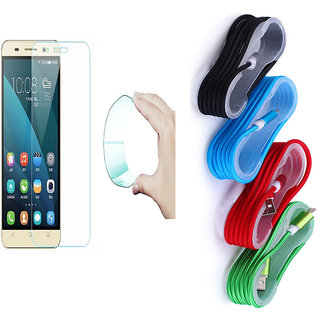 Lenovo Vibe K4 Note Curved Edge 9H HD Flexible Tempered Glass with Nylon Braided USB Cable