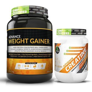Advance Nutratech Combo of Weight Gainer (1kg, Banana) And Creatine Monohydrate (300gm)
