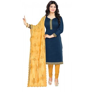3a16b62d605a4 Buy DnVeens Heavy Dupatta Suit Party Wear Salwar Kameez Dupatta Dress  Material Sets (Unstitched) Online - Get 68% Off