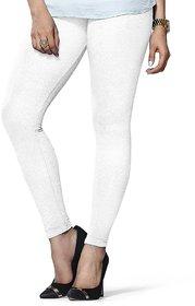 Women's Cotton White Leggings