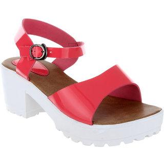 Feetzone Pink Block Heels