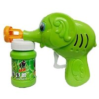 Green Toon Hand Pressing Bubble Making Toy Gun