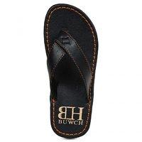 Buwch Men's Blue Leatherite Slip On Sandal