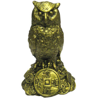 Fengshui Owl on Wealth statue