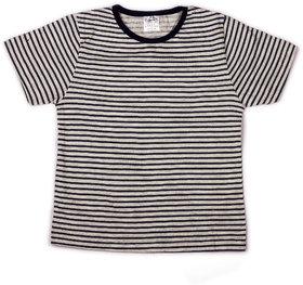 Navy stripe printed infant boys printed t shirt