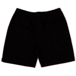 Solid black infant boys shorts