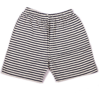Navy Stripe Printed Infant Boys Shorts