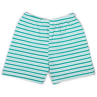 Green Stripe Printed Infant Boys Shorts