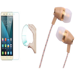 Redmi Note 4 9H HD Curved Edge Flexible Tempered Glass with Fragrant Metal Stereo Earphones with Mic