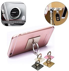 Vin Metal Finger Ring Mobile Holder for Smartphones - Mobile Phone Holder -1 pc (Assorted Colors)