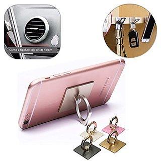 360 Rotate Metal Finger Ring Mobile Holder for Smartphones - Mobile Phone Holder -1 pc (Assorted Colors)