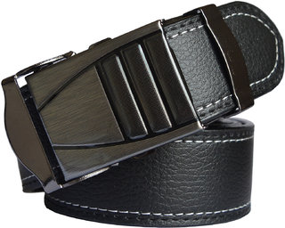 Black Leatherite Men's Belt