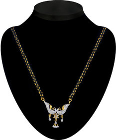 The Pari Gold Plated Golden  Silver Alloy Mangalsutra For Women