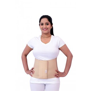 ABDOMINAL BELT 8 Back  Abdomen Support (XXL, Beige)