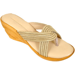 Altek Smooth Comfy Cream Wedges for Women (foot-1323-cream-p210)