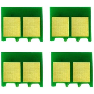 Green hp color laserjet 1025 refill chip ,4 pcs Multi Color Toner  Black, Magenta, Cyan, Yellow