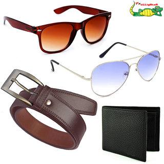 48d0a62bbcb4 Buy Elligator Men s Belt With Wallet And Sunglasses Combo(Set Of 4) Online  - Get 84% Off