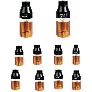 prodot Laser Printer Ink Powder(120 Gram) Pack Of 10 Single Color Toner  (Black)