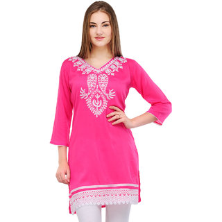 Online Stylish Kashmiri Embroidery Kurti Prices Shopclues India