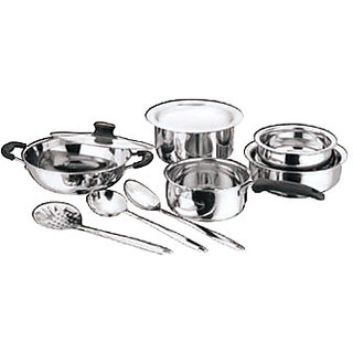 Kichen Essentials Induction Base Stainless Steel Cookware Set Of 10 Pcs