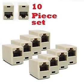 Ethernet Network Rj45 Lan Cable Extender 10 piece set