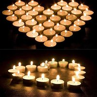 PujaShoppe Pack Of 50 White Tealight T-lite Tea Light C