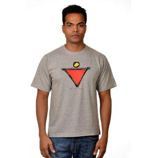 Nirvana Mens Divine M.Melange Round Neck Half Sleeves Cotton Tshirt