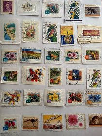 Australia Stamps - Set of 30 Rare and Genuine and all Different stamps - Philately - Special Rare Collection