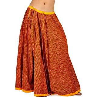 Rajasthani Red Cotton Block Printed Lehanga 277