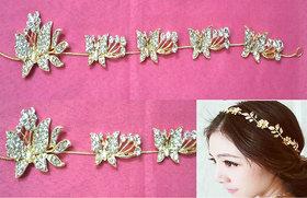FashionGold Crystal, Stone Wedding Bridal Tiara Headband, HairClips,Accessories