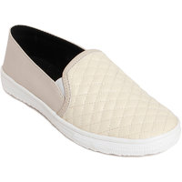 Meriggiare Women's Cream Smart Casuals Shoes