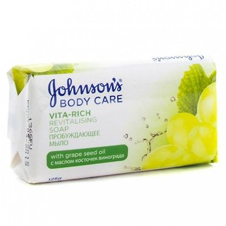 IMPORTED JOHNSON'S VITA RICH SOAP-GRAPESEED-125 GM (COMBO PACK OF 6)
