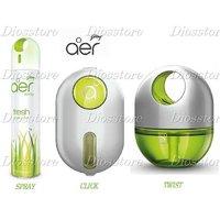 Godrej Air Freshner Combo Spray Click Twist In Fresh Lush Green