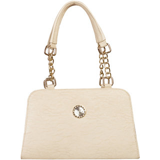 Louise Belgium Durable Handbag For Women Casual Use College Office Premium Clutch Purses White Lb 712