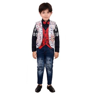 Boys Party Wear Jeans Shirt And Jacket Set Buy Boys Party Wear Jeans Shirt And Jacket Set ...