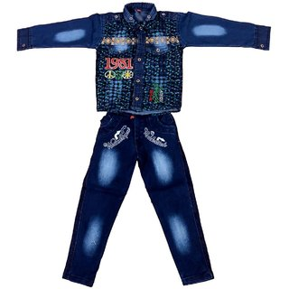 Arshia Fashions Boys Shirt and Denim Jeans set