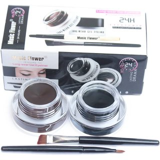 Music Flower Gel Eyeliner 6 g  (Black -01, Brown- 01)