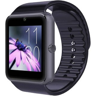 Ibs GT08 Bluetooth with Built-in Sim card and memory card slot Compatiible with All Android Mobiles Black Smartwatch