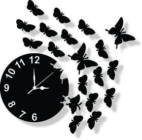 ENA DECOR WALL CLOCK CLOCK038 MDF WOODEN