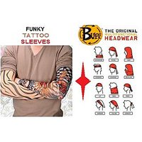 Combo Pack Of Arm Tattoo Sleeves & 9-Way Headwear Bandana/Buff.
