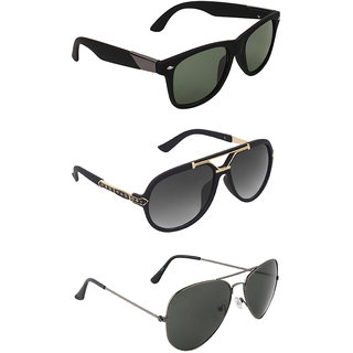 Zyaden Combo of 3 Sunglasses