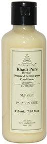 Khadi Pure Herbal Orange  Lemongrass Hair Conditioner SLS-Paraben Free - 210ml