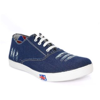 Blue Pop Mens Navy Lace-up Smart Casuals