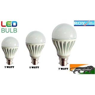 Roy LED Bulbs 3W 5W 7W (Pack of 3)