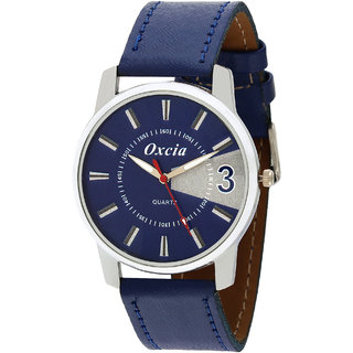 Oxcia Navy Dial Blue Strap Analog Watch For Men  Boys