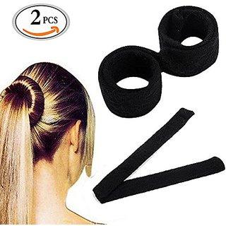 39eb49584 MLMSY Fashion Hair Styling Disk Hair Donut Former Foam French Twist Magic  DIY Tool Bun Maker (2Pcs)