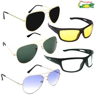 a4aa3dbf23ee Buy Elligator Unisex Sunglasses Combo (Pack Of 5) Online - Get 85% Off