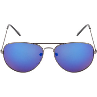 Colorfast 3025 Gunmetal Blue Mirror Aviator Sunglasses