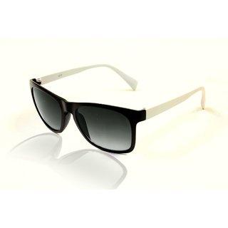Glitters Wayfarer Matte Black-White Sunglasses