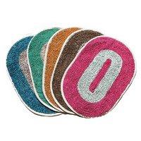 Fresh From Loom Multicolor Oval Door Mat - Set of 5